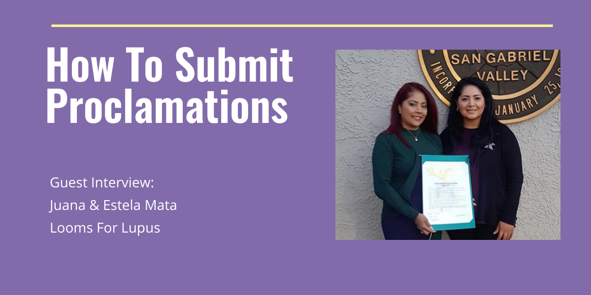 How To Submit Proclamations | Fibromyalgia & Lupus